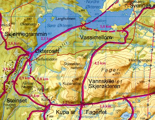 Ny skitrase Vassimellom – Eggedals-/Fagerfetløypa